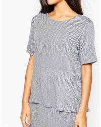 Just Female | Gray Japan Dress In Dot Print | Lyst