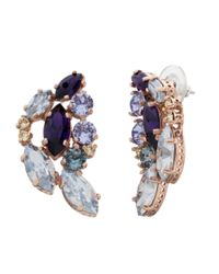 Cabinet - Purple 9 Ct Gold Plated Swarovski Crystal Aleta Earrings - Lyst