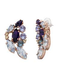 Cabinet | Purple 9 Ct Gold Plated Swarovski Crystal Aleta Earrings | Lyst