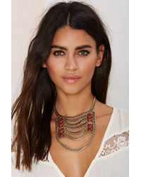 Nasty Gal - Metallic Liora Collar Necklace - Lyst