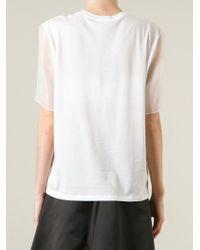 Alexander McQueen | White Logo Print T-shirt | Lyst