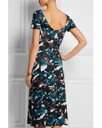 Erdem - Blue Vanya Printed Stretch-ponte Midi Dress - Lyst