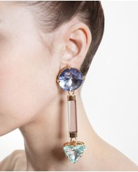 Valentina Brugnatelli | Multicolor Anjelica Swarovski Earrings | Lyst