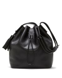 Vince Camuto - Black Lorin Leather Bucket Bag - Lyst