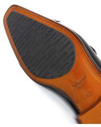 Magnanni Shoes Black Double Monk Strap Leather Shoes for men