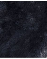 Yves Salomon | Blue Fur Scarf | Lyst
