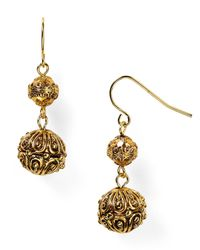 Lauren by Ralph Lauren - Metallic Beaded Delight Textured Drop Earrings - Lyst