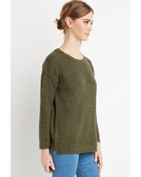 Forever 21 | Green Textured Knit Sweater | Lyst