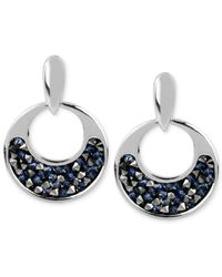 Kenneth Cole | Metallic Silver-tone Faceted Bead Round Drop Earrings | Lyst