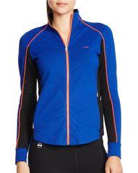 Lauren by Ralph Lauren | Blue Stretch Track Jacket | Lyst