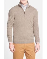 John W. Nordstrom | Natural Quarter Zip Cashmere Sweater for Men | Lyst