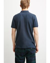 Forever 21 | Blue Classic Piqué Polo for Men | Lyst