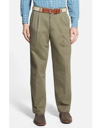 Bills Khakis | Brown 'm2' Standard Fit Pleated Vintage Twill Pants for Men | Lyst