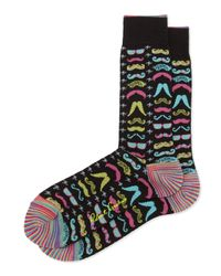 Robert Graham - Multicolor Ricco Graphic Print Socks Black for Men - Lyst