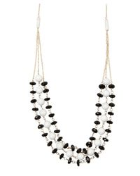 Wendy Mink | Black Onyx And White Bead Triple Strand Necklace | Lyst
