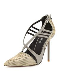 L.A.M.B. | Multicolor Boston Strappy Perforated Pump | Lyst