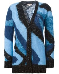 P.A.R.O.S.H. - Blue 'lalux' Cardigan - Lyst