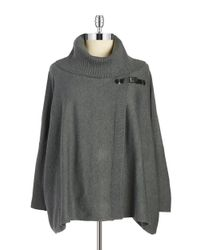 Calvin Klein | Gray Plus Buckled Cape Sweater | Lyst