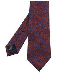 Corneliani | Brown Paisley Tie for Men | Lyst