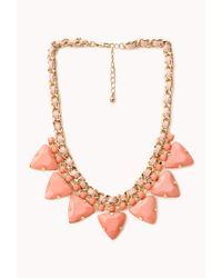 Forever 21 | Orange Pretty Tough Geo Necklace | Lyst