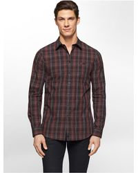 Calvin Klein | Purple White Label Ck One Jaspe Plaid Shirt for Men | Lyst