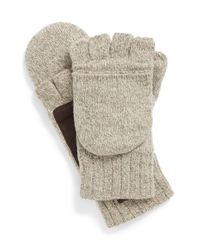 UGG - Black 'flip Mitt' Convertible Gloves for Men - Lyst
