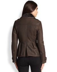 Burberry Brit - Gray Westborough Shearling Jacket - Lyst