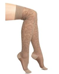 Falke | Natural 'grace' Over The Knee Socks | Lyst