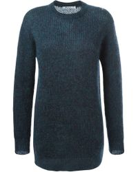 Alexander Wang - Green Crew Neck Sweater for Men - Lyst