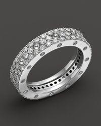 Roberto Coin   18k White Gold Pois Moi Diamond Pave Ring   Lyst