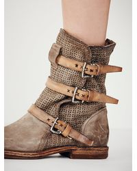 Free People | Natural Topanga Buckle Boot | Lyst