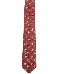 Etro | Red Large Paisley Print Silk Tie for Men | Lyst