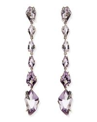 Alexis Bittar Fine | Metallic Cool Heather Marquise Amethyst & Diamond Linear Kite Drop Earrings | Lyst