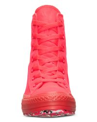 Converse - Pink Women'S Chuck Taylor All Star Platform Plus Casual Sneakers From Finish Line - Lyst