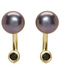 Pamela Love | Metallic Ssense Exclusive Gold & Black Pearl Gravitation Earrings | Lyst