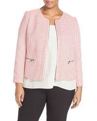 Halogen - Red Zip Front Jacket - Lyst