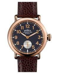 Shinola | Blue 'the Runwell' Leather Strap Watch | Lyst