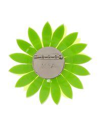 Issa | Green Dahlia Neon Acrylic Flower Brooch | Lyst