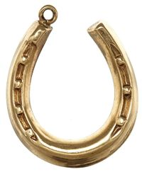 Annina Vogel - Metallic Vintage Gold Hanging Horseshoe Charm - Lyst