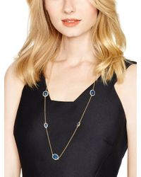 kate spade new york - Blue Park & Lex Scatter Necklace - Lyst