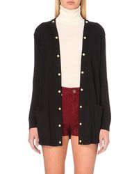 Sandro | Black Studded Cotton-blend Cardigan | Lyst