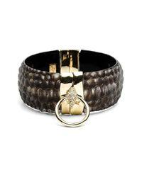 Alexis Bittar | Metallic 'Lucite - Crocodile' Wide Bracelet | Lyst