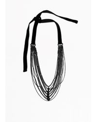 & Other Stories - Black Multi Chain Necklace - Lyst