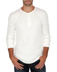 Lucky Brand | White Thermal Henely Shirt for Men | Lyst