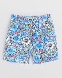 Vilebrequin | Blue Moorea Hawaiian Floral Swim Trunks for Men | Lyst