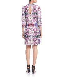 Free People | Purple Floral Shift Dress | Lyst