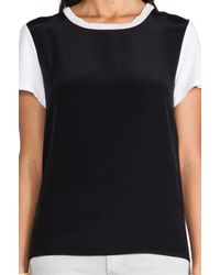 Sjobeck - Black Silk Sweater Tee - Lyst