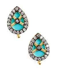 Freida Rothman | Metallic 'visionary' Small Teardrop Stud Earrings | Lyst