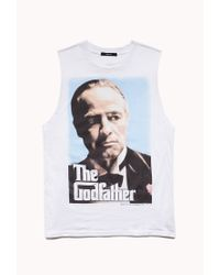 Forever 21 | White The Godfather Muscle Tee | Lyst