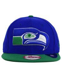 brand new 067cd ea02e Men s Green Seattle Seahawks Classic Xl Logo 9fifty Snapback Cap